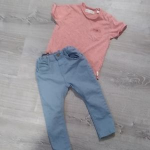 Zara baby boy 18-24 months top and jeans bundle
